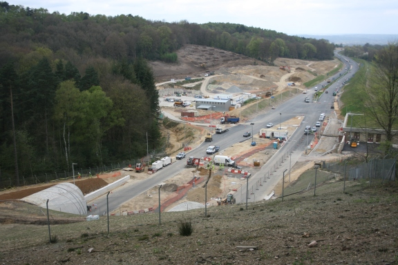 The northern entrance of the Hindhead Tunnel in the Boundless Copse vicinity, Spring 2011