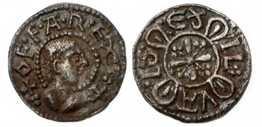 Offan penny found at Shalford (PAS Unique ID SUR-00E794) - http://finds.org.uk/database/artefacts/record/id/154241