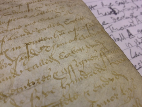 Indenture of 1561 which mentions, among other things 'closes of lande called Cockett Wode & Breches'