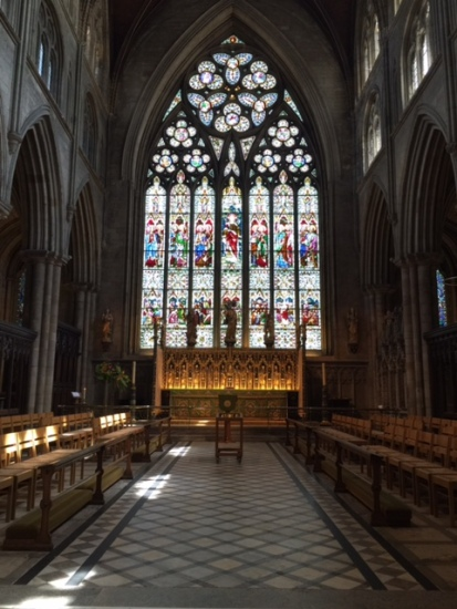The stunning east window of the choir of Ripon cathedral, a masterpiece of Geometric Gothic according to the guide on duty, and who am I to disagree?