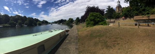 The riverfront at Sunbury-on-Thames