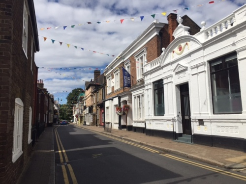 Thames Street in Sunbury, decked out with bunting to celebrate, er, how great bunting is?
