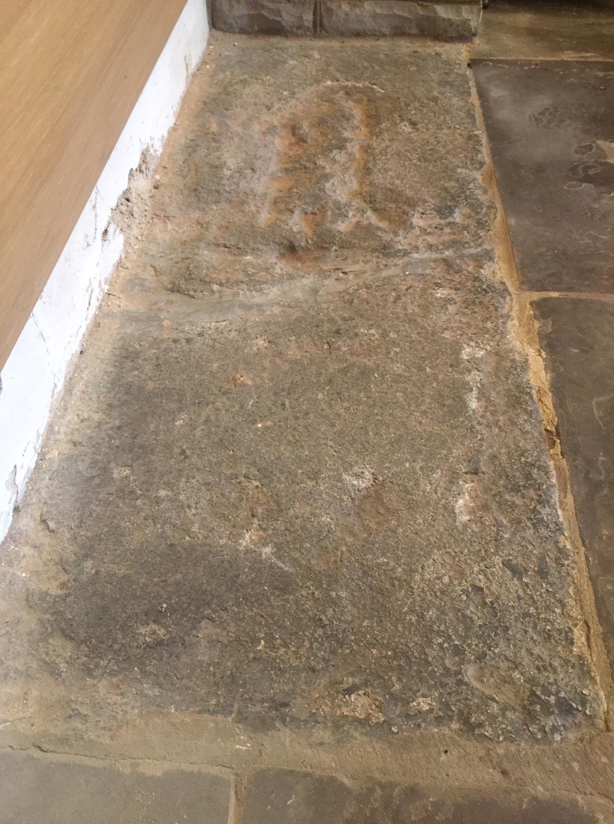 Granite Grave Slabs : Hidden in plain sight a fifteenth century grave slab