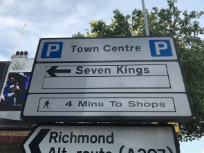 One of Kingston's main car parks is named after the (probably incorrect) belief that seven kings were crowned there in the Anglo-Saxon period